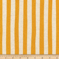 Kaufman Sevenberry Canvas Natural Stripe Gold Fabric