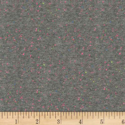 Kaufman Speckle Cotton Jersey Gray Fabric