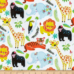 Michael Miller Minky Animal Friends Animal Friends Multi