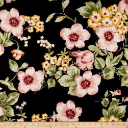 Double Brushed Poly Spandex Jersey Knit Floral Garden