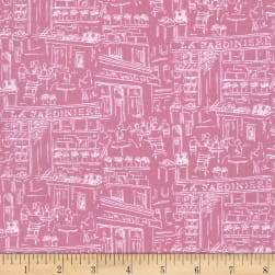 Michael Miller Alfresco Dining Rose Fabric