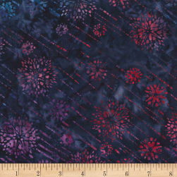 Timeless Treasures Tonga Batiks Jewel Amethyst Shooting Stars