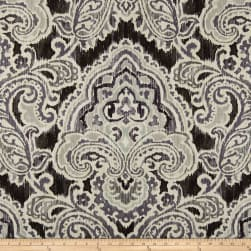 Waverly Artesanias Ikat Duck Graphite Fabric