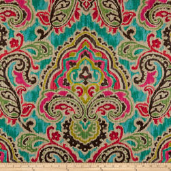 Waverly Artesanias Ikat Duck Caliente Fabric