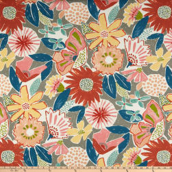 PKL Studio Indoor/Outdoor Catchin' Rays Poppy Fabric