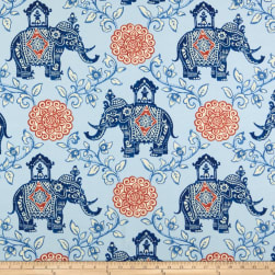 PKL Studio Indoor/Outdoor Circus Medallion Chambray Fabric