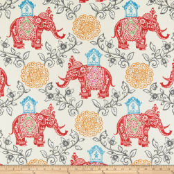 PKL Studio Indoor/Outdoor Circus Medallion Fruit Punch Fabric