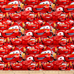 Disney Cars Cotton Packed McQueen Red Fabric