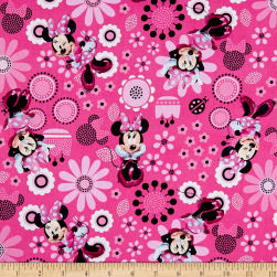 Disney Minnie Bowtique Cotton Minnie Allover Pink Fabric