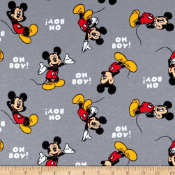 Disney Mickey Cotton Flannel Oh Boy Mickey Red