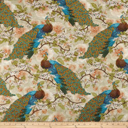 Springs Creative Indian Peacock Floral Multi Fabric