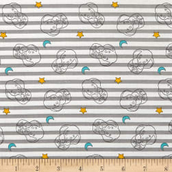 Disney Sweet Dreams Dumbo Stripe Gray Fabric