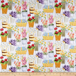 Springs Creative Country Life Wall Of Flowers Multi