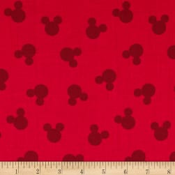 Disney Mickey Cotton Tossed Mickey Head Dot Red