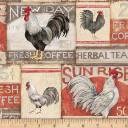 Susan Winget Farmhouse Rooster Rooster Patch Poplin Cream