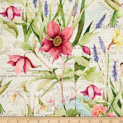 Susan Winget Botanical Buzz Garden Scene Basketweave Multi