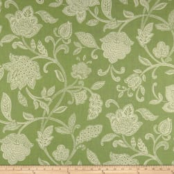Waverly Stencil Vine Duck Celery Fabric