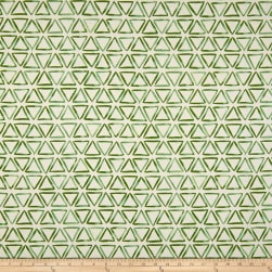 Waverly Painted Triangles Duck Verte