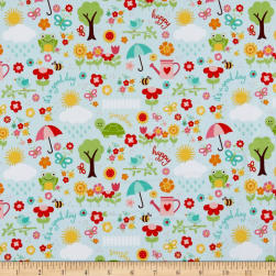 Bloom April Showers Aqua Fabric