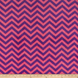 Plush Coral Fleece Chevron Fuschia Amethyst Fabric