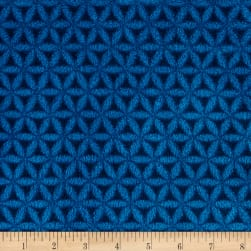 Plush Coral Fleece Lattice Blue Fabric