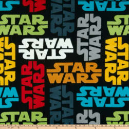 Star Wars Tossed Logo Fleece Multi Fabric