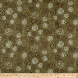 Henry Glass Tickled Pink Circles Green