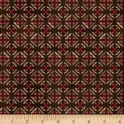 Henry Glass Tickled Pink Tile Flowers Brown