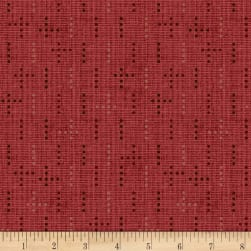 Henry Glass Tickled Pink Dot Weave Red