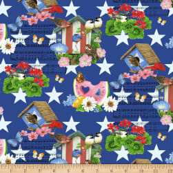 Henry Glass America The Beautiful Summer Motifs Blue/Multi