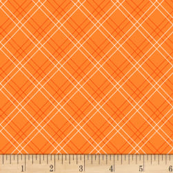 Henry Glass Cutie Tootie Diagonal Plaid Orange
