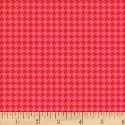 Henry Glass Cutie Tootie Houndstooth Red