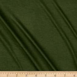 Rayon Jersey Knit Solid Olive Army