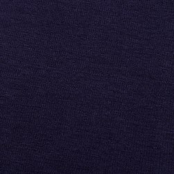 Rayon Jersey Knit Solid Navy Fabric