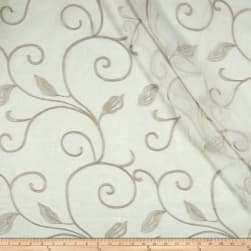 Eroica Alana Embroidered Sheer Latte Fabric