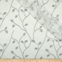 Eroica Jana Embroidered Sheer Silver Fabric
