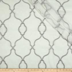 Eroica Aura Embroidered Sheer Silver Fabric