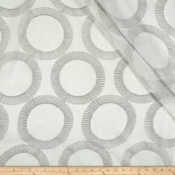 Eroica Semblance Embroidered Sheer Silver Fabric