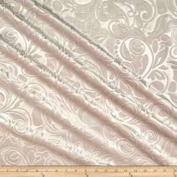 Embossed Velvet Scroll Blush Fabric