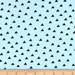 Clothworks Little Super Hero Geo Light Teal Fabric