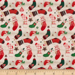 STOF France LeQuilt Merry Red Fabric