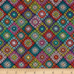 STOF France LeQuilt Santorin Purple/Multi Fabric