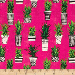 STOF France French Fantaisy Opuntia Multicolor Fabric