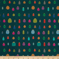 STOF France French Fantaisy Scarab Multicolor Fabric