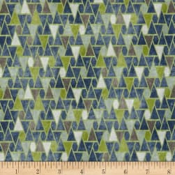 STOF France French Fantaisy Emaux Bleu Fabric
