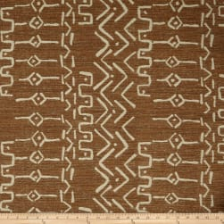 Artistry Mudcloth Yarn-Dyed Jacquard Cognac Fabric