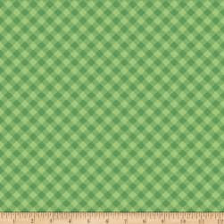Riley Blake Cozy Christmas Gingham Green Fabric