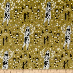 Jack is Back Sally Golden Green Fabric