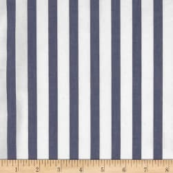 Cotton Tencel Poplin Stripe Blue