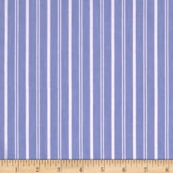 Cotton Tencel Poplin Stripe Sky Fabric